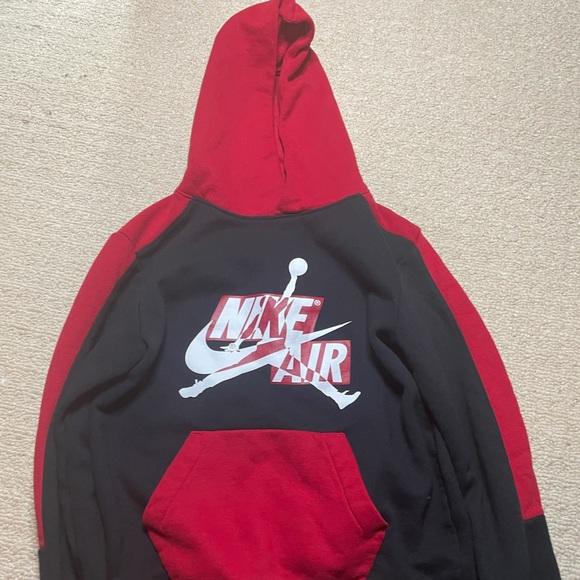 Red & black nike tracksuit